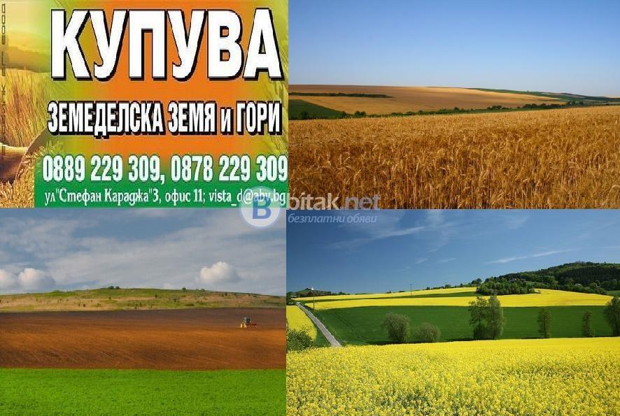 Купува зем. земи и идеални части-обл.в.търново, плевен, ловеч !!!!!!!!