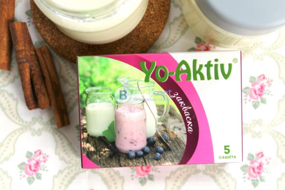 Закваска за домашно кисело мляко Yo-Aktiv за 1-2 л мляко