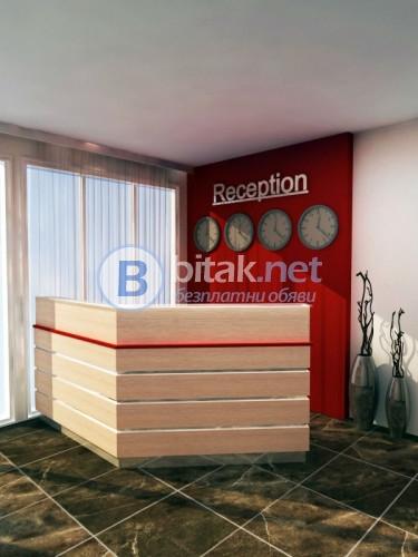 Цялостно проектиране и обзавеждане къщи за гости, хотелски стаи, фоаета, лобита, рецепции.