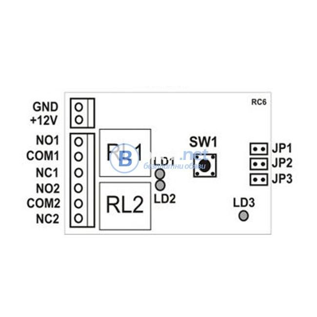 Двуканален програмируем модул за дистанционно управление