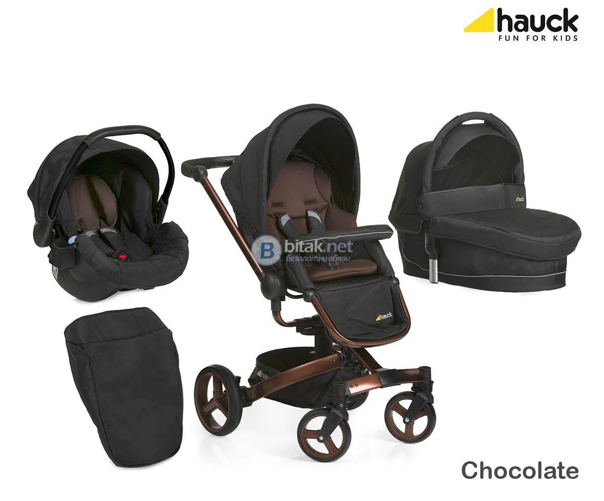 Комбинирана бебешка детска количка hauck twister trio set 2015