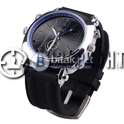 Ръчен часовник със силиконова каишка и камера 108