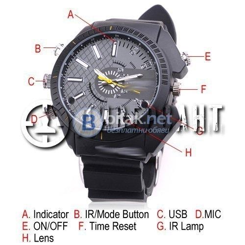 Спортен часовник със скрита камера 104