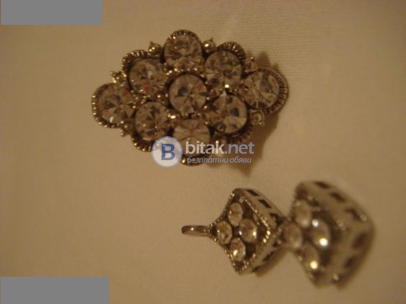 Комплект - медальон и пръстен имитация