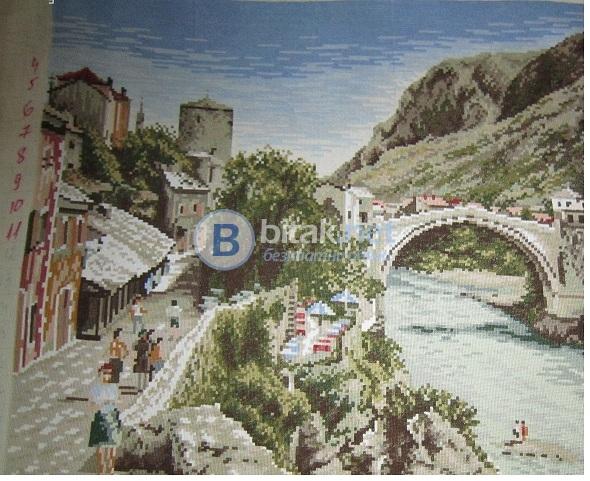 Продавам ръчно изработен гоблен - моста мустар