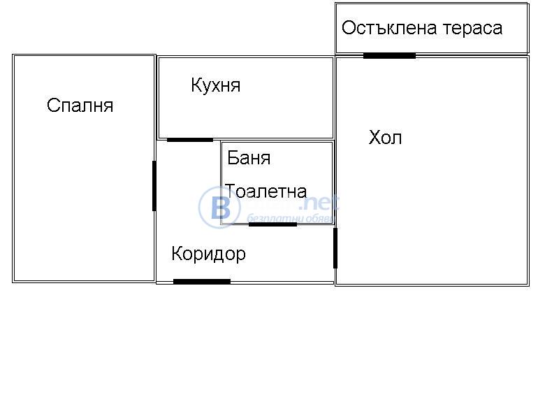 Продавам тристаен апартамент 64 кв.м в град кнежа-13500 евро