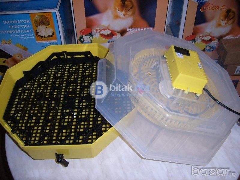 Инкубатор полуавтоматичен 41бр яйца термометър