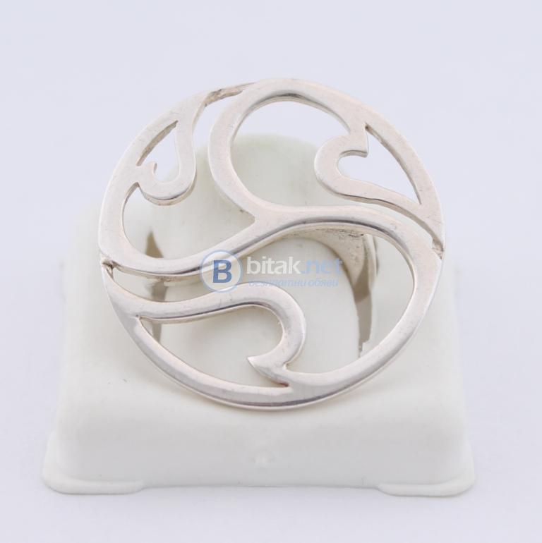 Сребърен пръстен - 7.22 гр - 18 лв