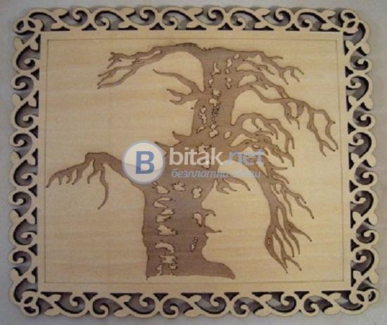 Пано за стена 'дървото на живота'