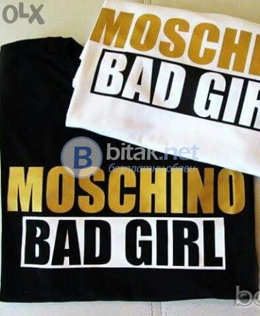 Новоо !! тениска moschino bad girl -50%(реплика)