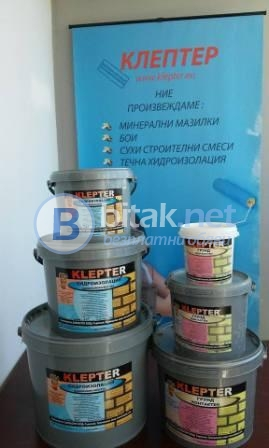 Еднокомпонентна течна хидроизолация клептер