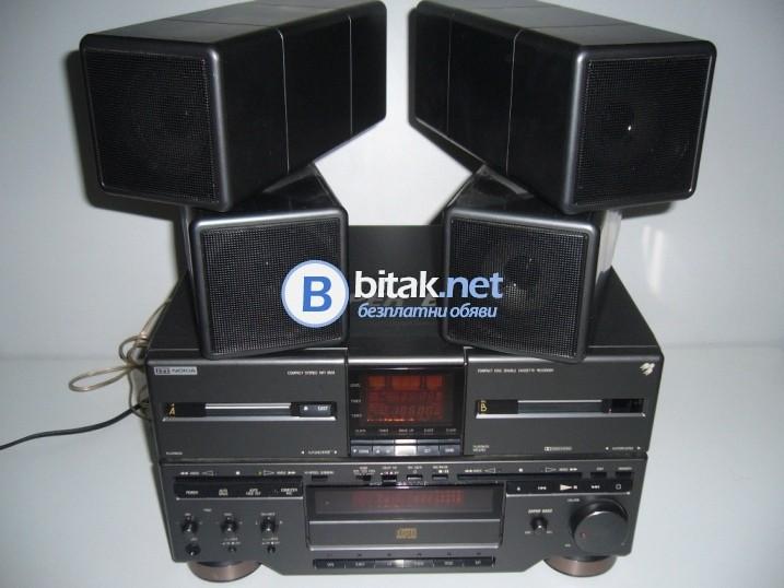 Уникална аудио система nokia - дек, усилвател, тунер, cd плейър, колони, маркова аудио сис