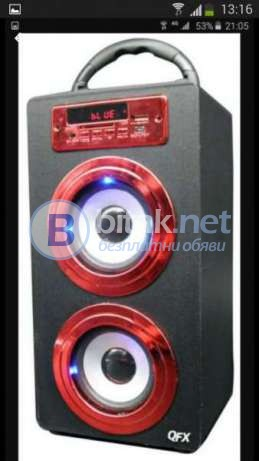Мини колона SU BT 206 с Bluetooth, USB ФЛАШКА, радио и дисплей