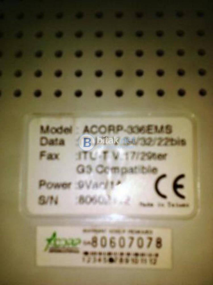 Acorp fax modem 33600
