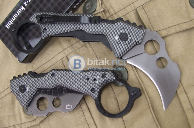 Сгъваем нож /карамбит/ QTRM5TR DA46