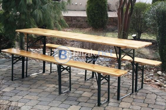 Дървени маси и пейки под наем от НОВА Кетъринг, тип бирфест, подходящи за градинско събитие!  http:/