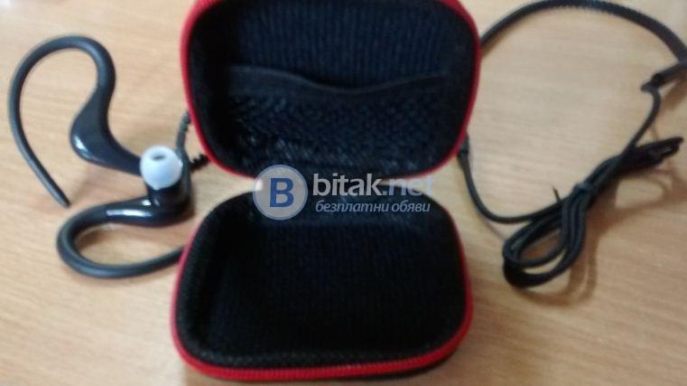 Слушалки с микрофон за смартфон,РС,Tablet, с захващане на цялото ухо и кутийка