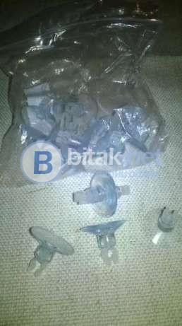 Оборудване за аквариуми 9 бр (кепчета, вакумчета, латмуси за pH)