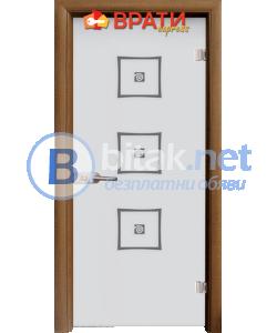 Стъклена интериорна врата, Sand G 14-3, каса Златен дъб