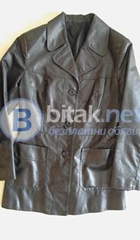 Черно яке от естествена кожа №44