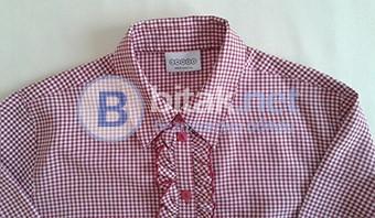 Дамска риза с къдрички и 3/4 ръкав