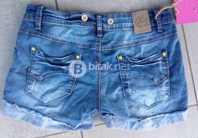 Дънкови къси панталони с тиранти