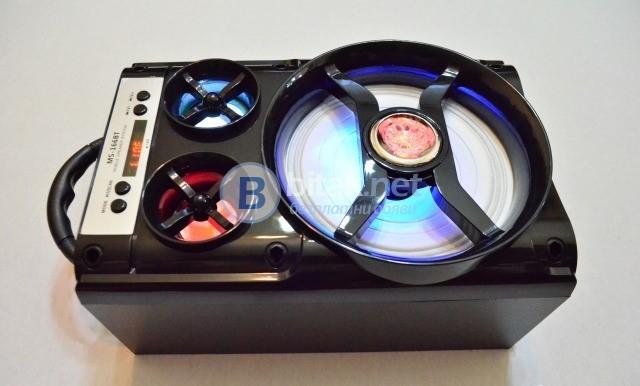 Мощна.блутут15 W портативна колонка MS 166BT+FT+MP3+.....