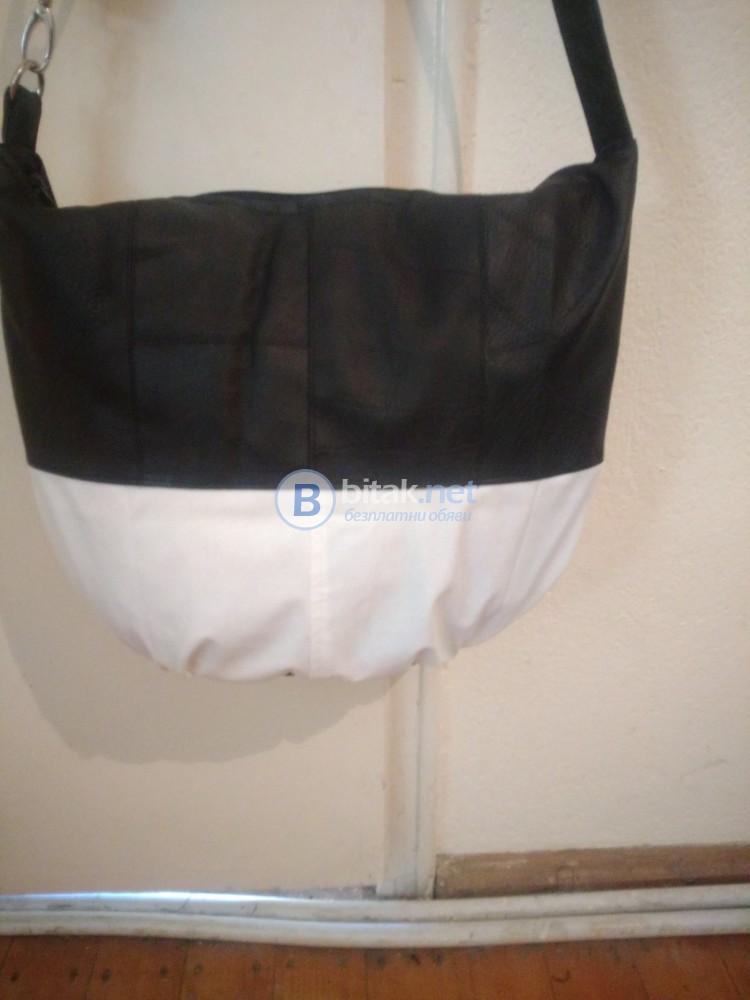 Дамска  кожена чанта-ръчна изработка