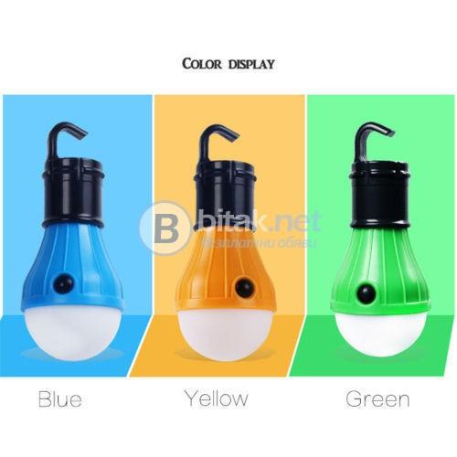Къмпинг LED Крушка Лампа с Кука за Закачане  Палатка Риболов Безжична Лампа