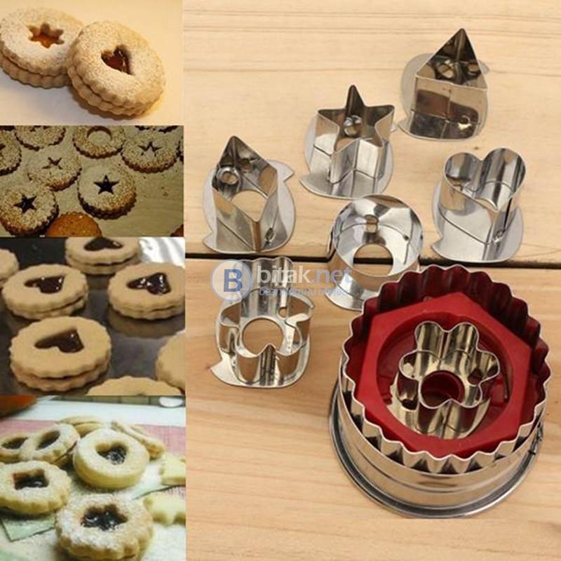 7 Различни Форми за Бисквити Резци Сладкарски Инструменти форми за сладки Линцер