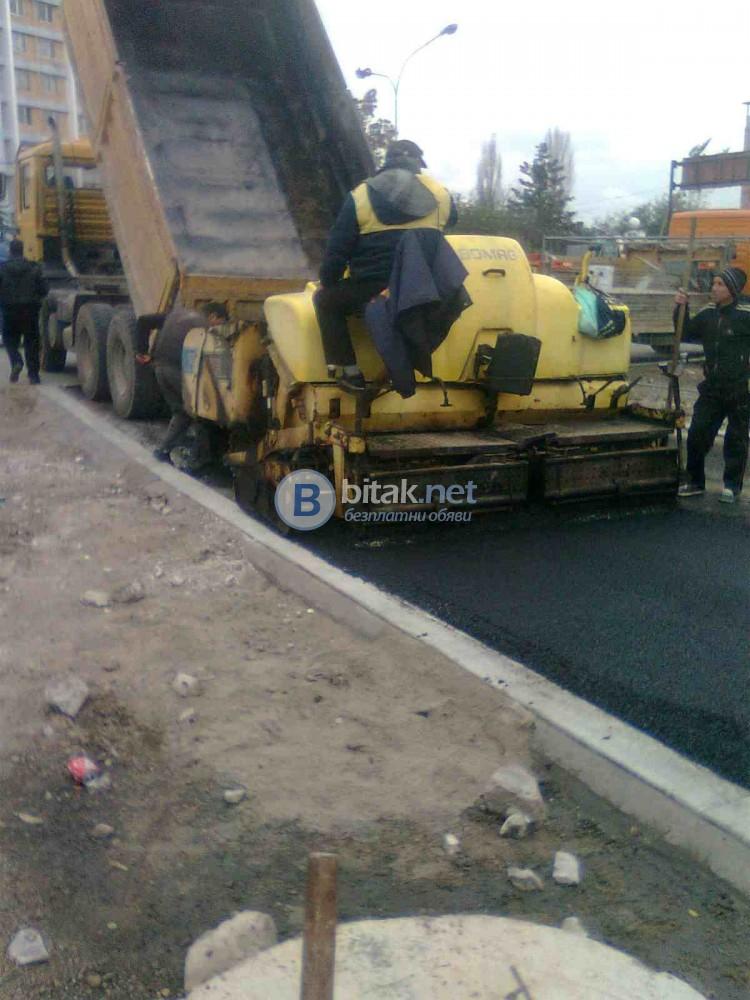 Асфалтиране, машинно и ръчно полагане на асфалт