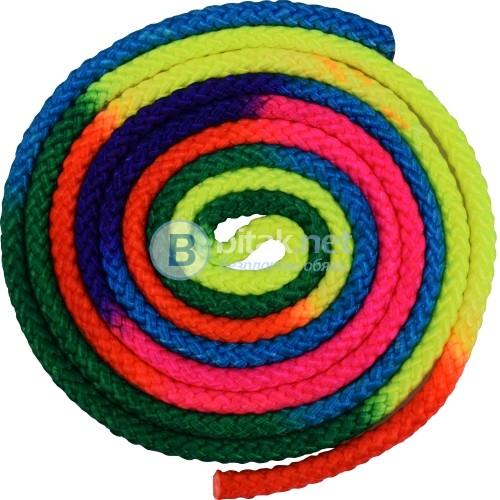 Въже за художествена гимнастика дъга 3 м ново Многоцветно въже за художествена гимнастика MAXIMA-нов