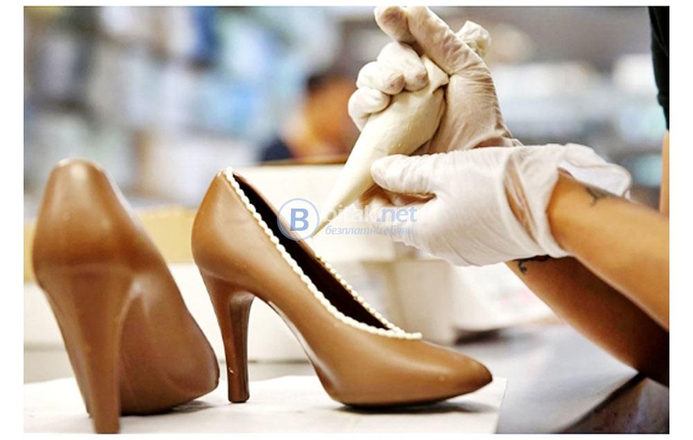 3D Шаблон Макет За Израбодка На Шоколадова Обувка Токче Инструмент за Моделиране