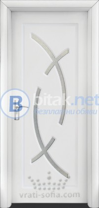 Интериорна HDF врата с код 056,цвят Бял