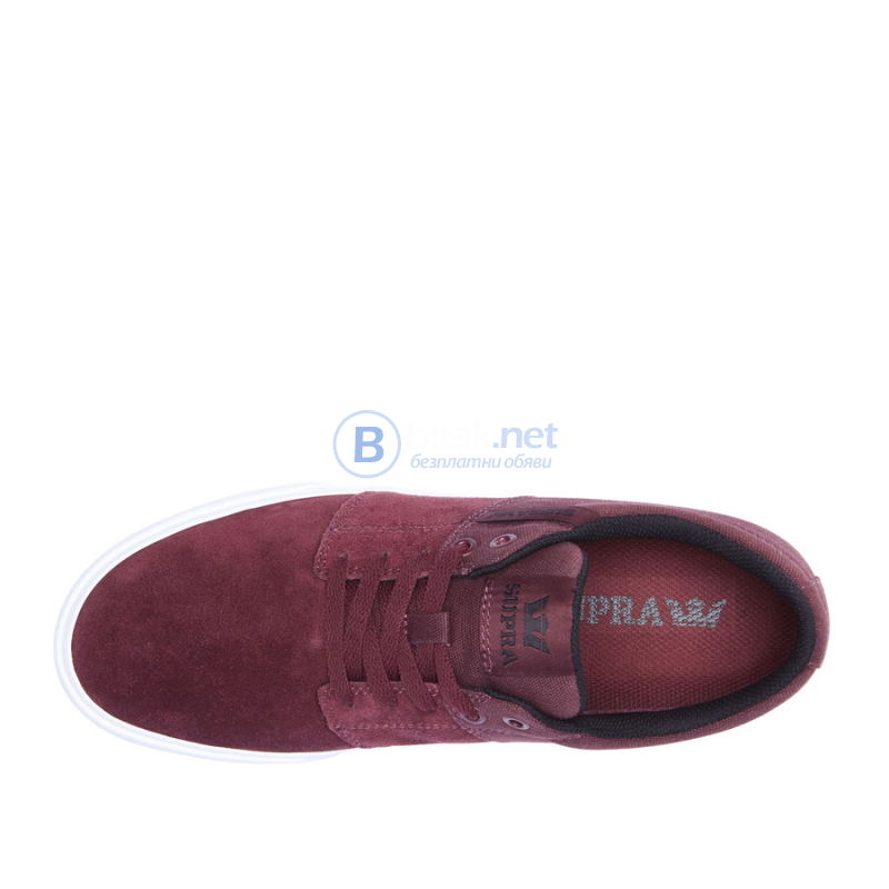Supra Stacks Vulc 2 burgundy МЪЖКИ КЕЦОВЕ