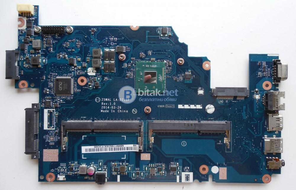 Лаптоп Acer Aspire E 15 E5-511 РАБОТЕЩА ДЪННА ПЛАТКА на части!
