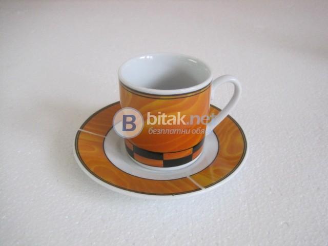 Нов сервиз за кафе в оранжево