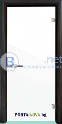Стъклена интериорна врата, Folio G 15-1, каса Бял цвят