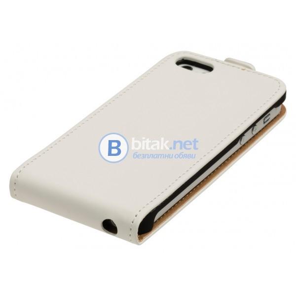 Калъф за iPhone 5s/5/SE флип тефтер вертикален