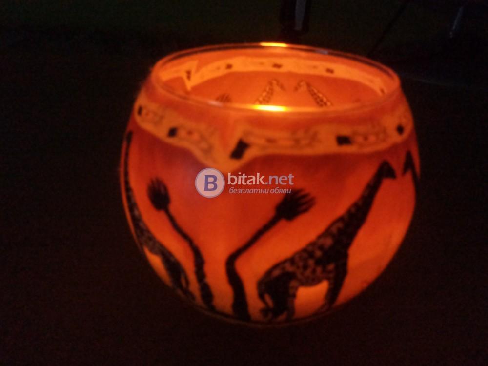Декоративна свещ с чаши