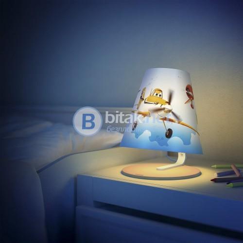 Нощна лампа за деца Philips Disney Planes с безопасен дизайн
