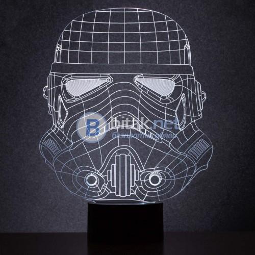 Лицензирана LED лампа Stormtroopers