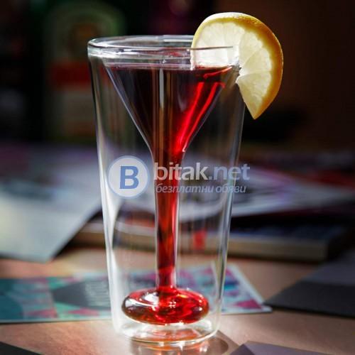 Дизайнерска чаша за мартини