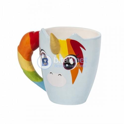 Сладка керамична чаша с еднорог