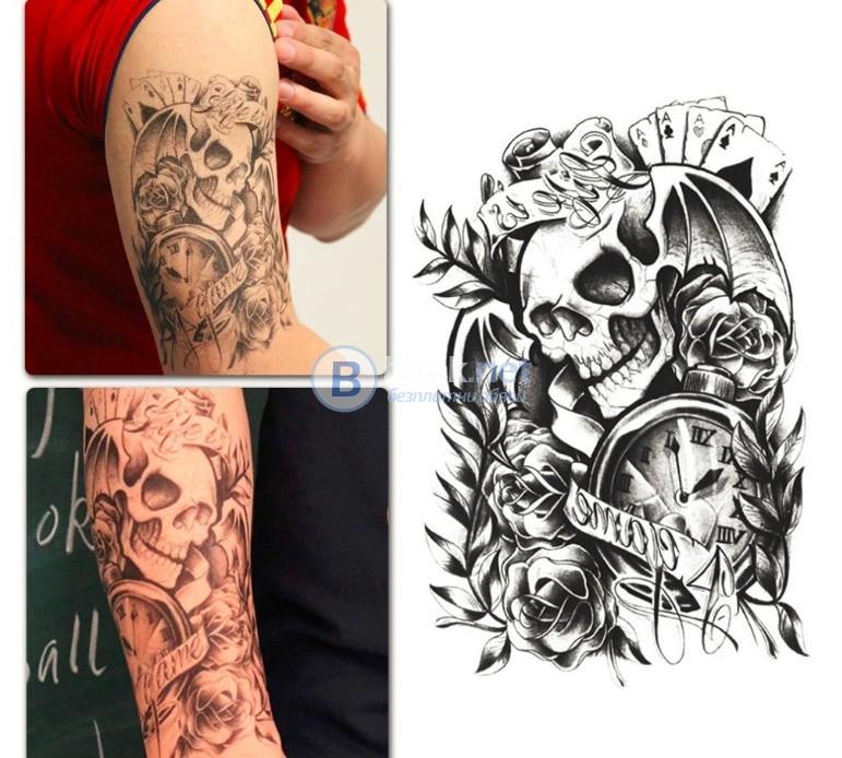 Временна татуировка ,,череп'' (стикер)