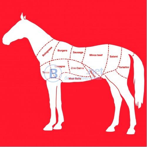 """Готварска престилка """"Мога да изям цял кон"""""""