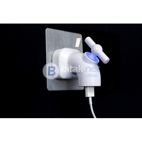 """""""Кранче""""- щепсел: накрайник за зареждане на iPad, iPhone, смартфони и таблети"""