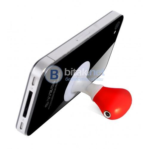 Аудио сплитер с два изхода и поставка за мобилни телефони
