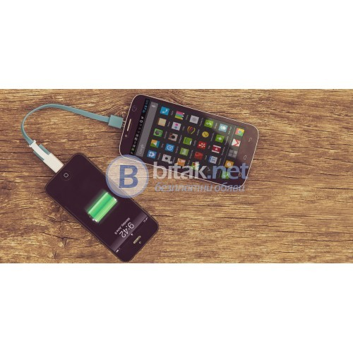 Кабел за споделено зареждане от смартфон на смартфон