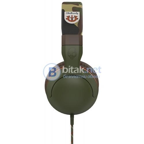 Слушалки SkullCandy Hesh 2.0 с микрофон Olive/Camouflage
